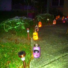 Halloween mason jar votives! The best part is I can reuse them next year!