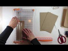 Vertical Paper Bag Mini Album Series Part 1b - Building the Cover