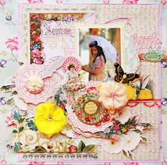 """Layout by DT Larissa Albernaz featuring """"Girl Land"""" collection by Webster´s Pages"""