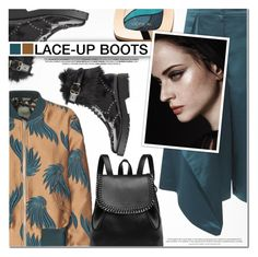 """""""Lace It Up"""" by anna-anica ❤ liked on Polyvore featuring Dries Van Noten, Hansen, TIBI and L'Oréal Paris"""
