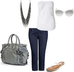 Summertime casual, created by kara-morrison-carter on Polyvore
