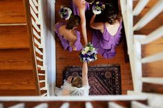 Stairs with bouquet