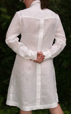 wedding Shirt Dresses for Women | Debra Torres Lily Guayabera Dress in Linen