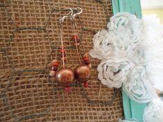 drop beaded earrings by FarmHouseJewels on Etsy