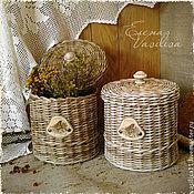 """Для дома и интерьера ручной работы. Ярмарка Мастеров - ручная работа """"Гнездо жаворонка"""" набор плетеных коробов. Handmade."""