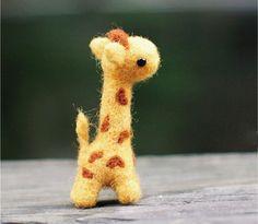 DIY Kit - Giraffe Needle Felting Kit -Craft Kit