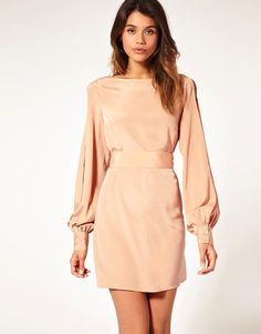 58dcaab441f08e ASOS slit sleeve dress with cut out back