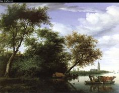 Salomon Van Ruysdael   Salomon van Ruysdael wooded river landscape