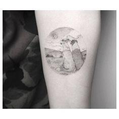 Dogs in love. Artista Tatuador: Jakub Nowicz