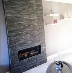 Transform your walls with our shimmering Silver Grey Split Face Mosaic Tiles. Free sample tiles available to order. Grey Slate Tile, Grey Wall Tiles, Mosaic Wall Tiles, Grey Walls, Mosaics, Fireplace Feature Wall, Grey Fireplace, Living Room With Fireplace, Tiled Fireplace