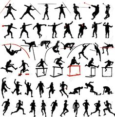 track and field clipart black and white - Google Search