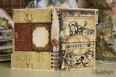 Agenda both sides Hobbies And Crafts, Arts And Crafts, Decoupage Art, Book Binding, Mini Albums, Bookends, Harry Potter, Gallery, Creative