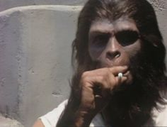 Planet of the Apes, 1967...between scenes...