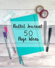 Bullet Journal | 50 Page Ideas Journal journalling bullet planner organiser