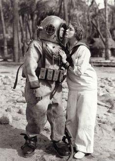 vintage scuba diver macks on sailor-leia