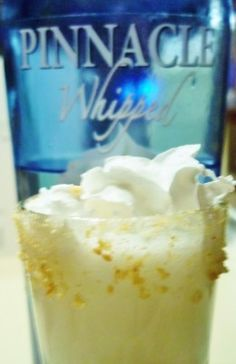 Lemon Meringue Martini Shot  whipped cream flavored vodka, fresh squeezed lemon juice, simple syrup and redi whip......sounds good!