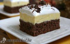 Csokoládés vaníliakocka recept fotóval