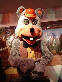 The more I stared at chuck E cheese the more he seemed to be scanning the crowd looking for his next victim, whilst singing showtunes….