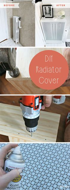 Small space solution and beautiful! Create a cover for that ugly radiator in your apartment and get bonus shelf space. Win, win right? DIY here: http://www.ehow.com/how_2249862_build-radiator-cover.html?utm_source=pinterest.com&utm_medium=referral&utm_content=freestyle&utm_campaign=fanpage