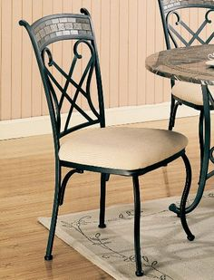 Ardith Red Bronze Marble Dining Chairs, Set of 2 by Coaster Furniture Coaster Furniture, Metal Furniture, Dining Room Furniture, Dining Chairs, Dining Table, Wishbone Chair, Marble Top, Home Kitchens, Home Furnishings