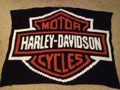 Harley Davidson Patterns Free | Harley Davidson logo blanket - Afghans - Crochetville