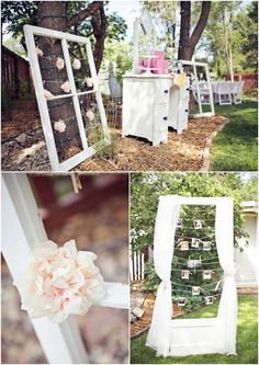 Vintage Backyard Bridal Shower Decor  // A Vintage Affair Events + Rentals // Connie Dai Photography