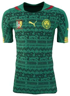 Cameroon Home Kit for World Cup 2014 #worldcup #brazil2014 #cameroon #soccer #football #CMR