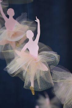 Ballet mobile Ballerina nursery centerpiece Ballet baby girl bedroom mobile Ballerina themed decoration for nursery and bedroom Personalized Ballet Baby Shower, Ballerina Bedroom, Ballet Decor, Studio Decor, Bracelet Gift Box, Little Ballerina, Pink Cards, Paper Crafts, Diy Crafts