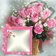 Imikimi Com Flower Frame Happy Birthday Frame, Happy Birthday Flower, Birthday Frames, Friendship Day Wishes, Photo Frame Design, Family Photo Frames, Picture Frames, Borders And Frames, Good Morning Wishes