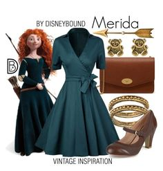 """""""Merida"""" by leslieakay ❤ liked on Polyvore featuring Mulberry, Merida, Journee Collection, vintage, disney, disneybound and disneycharacter"""