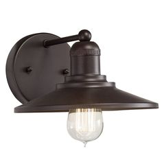 Westwood Collection 8.98-in W 1-Light Architectural Bronze Arm Hardwired Wall Sconce   Lowe's Canada