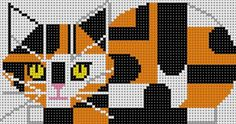 Calico Cat (hand painted canvases) @ stitchtherapyneedlepoint.com