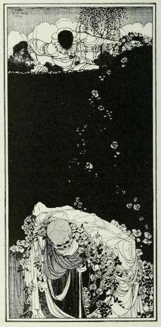 """""""The Chasm"""" by Kay Nielsen.  The Drawings of Kay Nielsen  Marion Hepworth Dixon London: Cory, Adams, & Mackay, Ltd., 1913."""