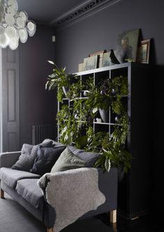 Un mur végétal. Offrez-vous un paysage de verdure à l'intérieur en créant un jardin vertical sur un mur inexploité. Suspendez des cache-pots à des barres, pour gagner de la place, ou placez des plantes, vraies ou artificielles, sur des étagères.