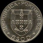 5 Escudos - Cupro Níquel, 1984