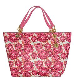 Tommy Hilfiger Reversible Saffiano Shopper Tote Bag Handbag Purse Floral Pink ** Read more reviews of the product by visiting the link on the image.