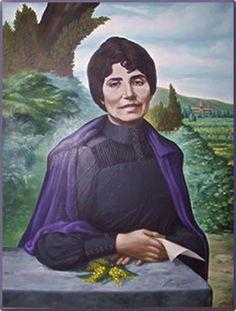 Retrato Rosalía de Castro, poeta de Galicia, España.