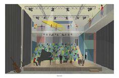Gautier Rey architecture portfolio   Conservatoire