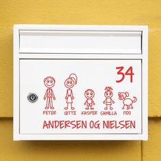 #1 Familiepostkasse sticker wallsticker