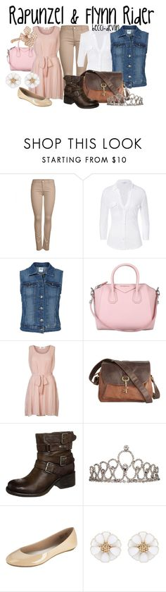 """""""Rapunzel and Flynn Rider"""" by lovelylittledisney ❤ liked on Polyvore featuring ONLY, James Perse, Vero Moda, Givenchy, Molly Bracken, MJUS, Forever New and Anita Ko"""