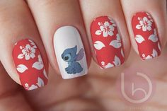 Items similar to Stitch Nail Decal Waterslide Nail Design Nails Press On Nail Decal Nail Design Nail ArtDisney decal disney characters Disney nails on Etsy designscute Disney Nail Designs, Cute Nail Designs, Acrylic Nail Designs, Disney Acrylic Nails, Best Acrylic Nails, Easy Disney Nails, Rose Nails, My Nails, Art Disney