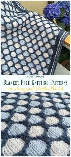 Easy Blanket Free Knitting Patterns To Level Up Your Knitting Skills Honeycomb Stroller Blanket Knitting Gratisanleitung - Einfach . Baby Knitting Patterns, Knitting Kits, Free Knitting, Baby Blanket Knitting Pattern Free, Beginner Knitting, Blanket Patterns, Knitting Ideas, Crochet Headband Free, Crochet Baby