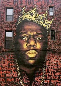 A new mural in Bedford-Stuyvesant pays tribute to legendary rapper Notorious B.I.G, #streetart