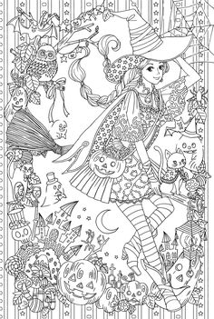 Language : Japanese / 28 x 21 x cm Published : September 25 2017 *Condition :New Introduction I wanted to wear it because it is good at once, it became a gorgeous coloring painting of the longing beautiful clothes Beautiful clothes are alw Coloring Book Pages, Printable Coloring Pages, Coloring Sheets, Fall Halloween, Halloween Crafts, Halloween Coloring Pages, Free Coloring, Kids Coloring, Line Art