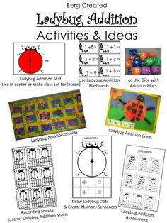 This ladybug addition activity will be perfect for spring time.