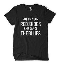 David Bowie Let's Dance Lyrics T-shirt American by Press84