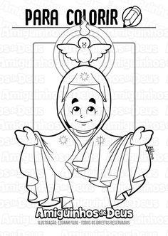 desenho de nossa senhora de pentecostes para colorir