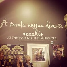 [AT THE TABLE NO ONE GROWS OLD] Love this quote which adorns the wall of my favourite Italian deli - always makes me think of my Nonna and the joy she gets watching our family eat. #SWSHAREYOURLIFE