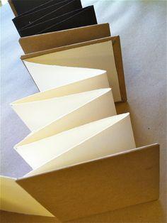 4 x 4 blank accordion book