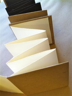 4 x 4 blank accordion book by kimbeehive on Etsy, $20.00